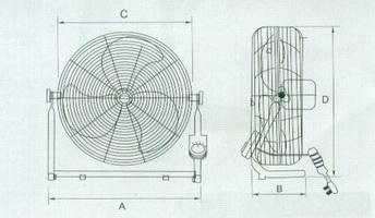 工业台地扇结构图